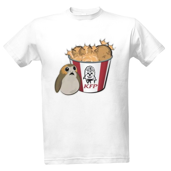 Tričko s potiskem Star Wars: Kentucky Fried Porg